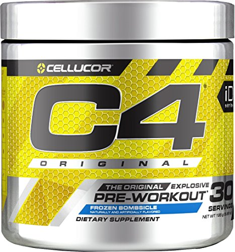 C4 Original Pre Workout Powder Frozen Bombsicle | Sugar Free Preworkout Energy Supplement for Men & Women | 150mg Caffeine + beta Alanine + Creatine | 30 Servings