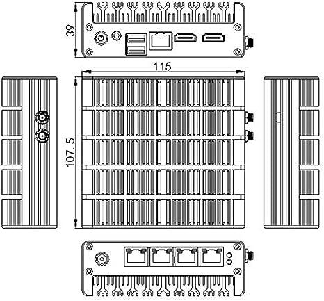 Hsipc New Celeron J3160 Quad Core Firewall Pc Fanless Elektronik