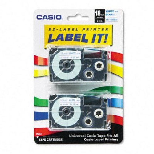 Casio Inc. XR18WEB2S Tape Cassette for Label Printer