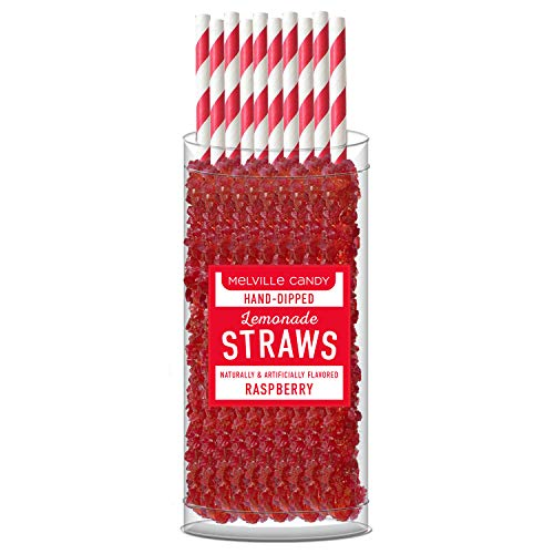 Red Raspberry Candy Paper Straw Perfect For Sweet Tea And Cocktails 100% USA Made (8 - Raspberry Napkin Beverage