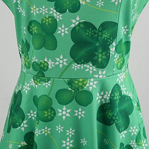 Vestiti Eleganti Bodycon Prom Donna 8 Dress Da Sera Pizzo Festa Swing Casuale Verde Senza CerimoniaStampa Vestito Maniche 35jqcARL4