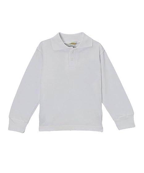 b1e75f626917 Amazon.com: Pam Big Boys' Blank Long Sleeve Polo Shirt: Clothing