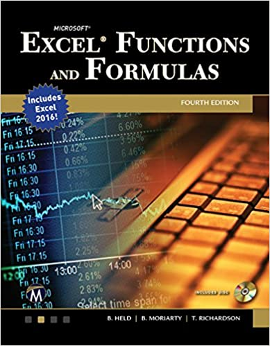 microsoft excel functions and formulas bernd held brian moriarty