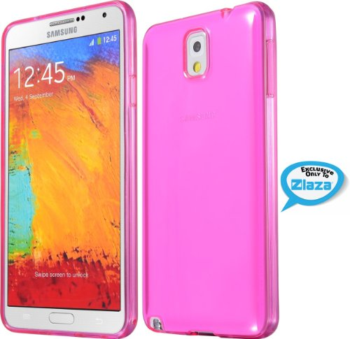 Galaxy Note 3 Case, Laza® [Slim Jelly] Samsung Galaxy Note 3 [Hot Pink] Gloss Case Flexible Soft [Slim-Fit]