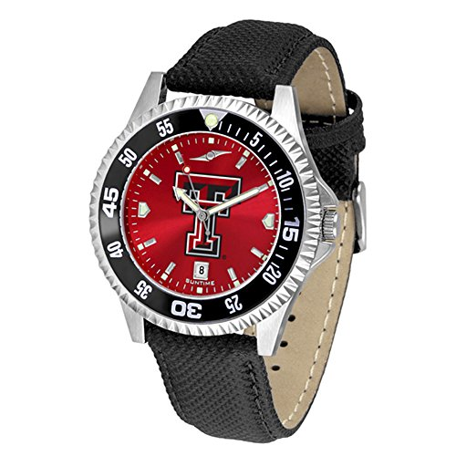 (Texas Tech Red Raiders Competitor AnoChrome Men's Watch - Color Bezel)