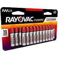 24 Pack Rayovac Fusion AAA Alkaline Batteries