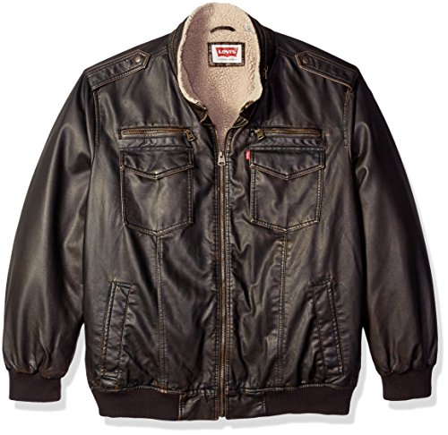 Levis Vintage Leather Aviator Bomber