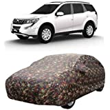 CLASS ONE Fine Quality Material & Water Resistant Car Cover Specially Design for Mahindra XUV 500 (Multicolor with Mirror Pockets)