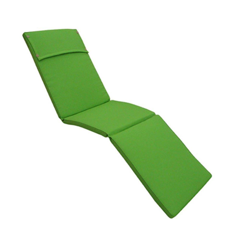 Cuscino super imbottito verde 8cm impermeabile sfoderabile sdraio lettino da esterno CU805716 Cosma