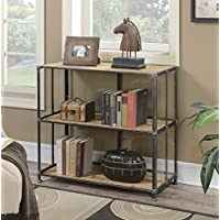 Convenience Concepts Viking Console Table, Silver & Natural