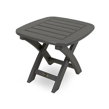 Plastique recyclé nautique 53,3 x 45,7 cm Table d\'appoint gris ...