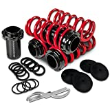 Civic/CRX/Del Sol/Integra Aluminum Scaled Coilover Kit Set (Red Springs Silver Sleeves) - EG EK DC