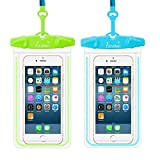 Waterproof Phone Case, Firstbuy Waterproof Pouch Water Games Dry Bag Outdoor Sports Case With Armband Neck Strap Luminous Ornament for iPhone 8 X 7 6 6s Plus Galaxy S7 S6 Edge Note Google Pixel LG HTC