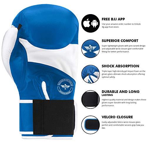 Boxing Gloves for Men and Women, Elite Sports Women and Men Kickboxing gloves