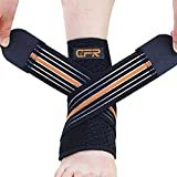 Medical Ankle Support Braces Velcro Wrap Bandage Sleeve Ankle Stabilizer Compression Unisex Free Size,Left Foot