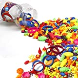 Amytalk 430PCS Snap Beads Set, Kids' Jewelry Making Kits for Necklace and Bracelet for Girls, 8.6...