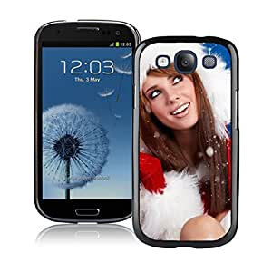 S3 Case,Christmas Girls Silicone Black Samsung Galaxy S3 Case,S3 I9300 Protective Case