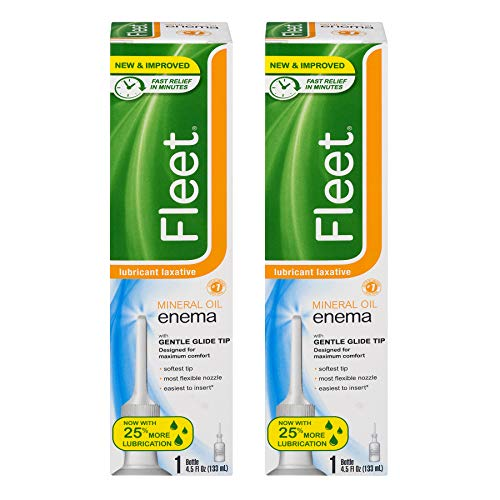 Fleet Lubricant Laxative Mineral Oil Enema   4.5 oz   Pack of 2   Fast Constipation Relief in Minutes