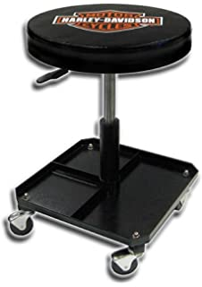 Plasticolor Harley-Davidson Bar & Shield Shop Stool Swivel & Adjusted Seat Height P4766