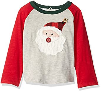 Amazon.com: Mud Pie Baby Boys' Holiday Christmas Santa Raglan T ...