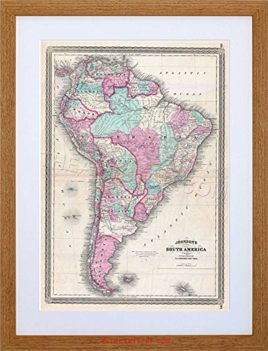 0 Johnson South America Vintage Framed Print F12X2041 ()
