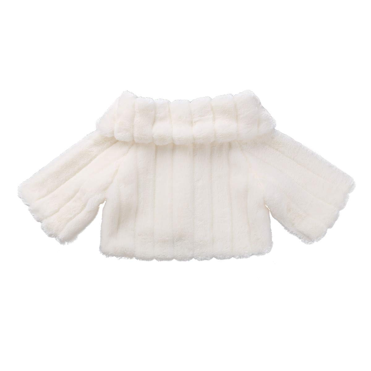 Amazon.com: ACSUSS Little Big Girls Wedding Bridesmaid Faux Fur Shawl Wraps Bolero Flower Dress Cover Up: Clothing