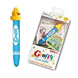Ndevr Grafiti Aluminum Kid Friendly Stylus Tablet Styli Crayon with Hanging Strap and Yellow Ducky Cap - Blue GRA-YDK-BL-NDR000
