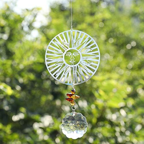 HampD Suncatcher Rainbow Maker Clear Window Sun Catcher Great for Feng ShuiThe Sun