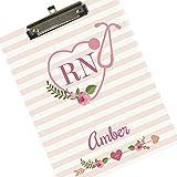 monogrammed clip board - Monogrammed Clipboard for Nurse RN Arrow