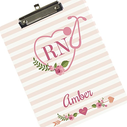 Monogrammed Clipboard for Nurse RN Arrow Monogrammed Clipboard