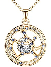 "<span class=""a-offscreen"">[Sponsored]</span>[Presented by Miss New York] Leafael ""My Superstar"" Swarovski Crystal Horoscope Zodiac Sign Constellation Pendant..."
