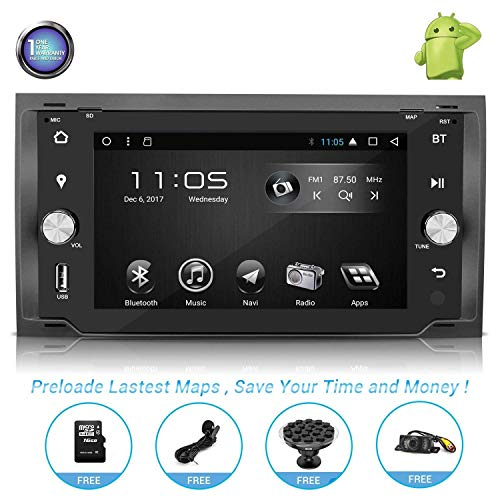 Android Car Stereo with Navigation-7 Inch Touch Screen Double Din Car Stereo with Bluetooth 2 Din Android Head Unit GPS Navigation for Ford Transit Mondeo C-Max Fiesta Fusion S-Max Kuga Connect (1)