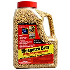 Sound biological mosquito control - Kills within 24 hours. Kills before mosquitoes are old enough to bite. Sprinkle in any standing water. NOTE: EPA registered in all 50 states; approved for use for pest control in organic farming operations ...