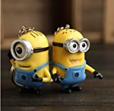 (US) Despicable Me Minions Dave Stuart Keyring Couple Key Chain Pendant 2pcs Set