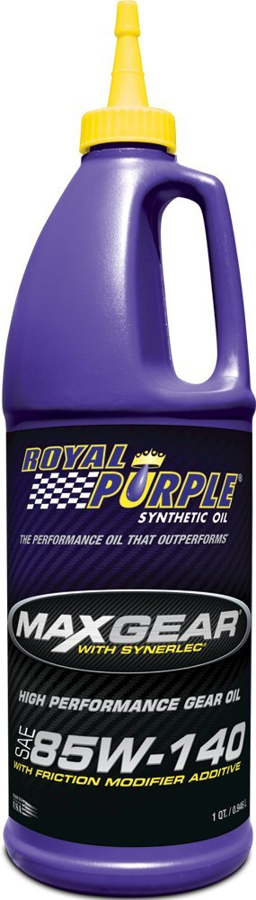 Royal Purple 12303 Max Gear 85W-140 High Performance Synthetic Automotive Gear Oil - 1 qt. (Case of 12) by Royal Purple