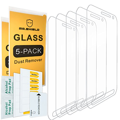 [5-PACK]-Mr Shield For Samsung Galaxy S6 Active (Not Fit For Galaxy S6) [Tempered Glass] Screen Protector [0.3mm Ultra Thin 9H Hardness 2.5D Round Edge] with Lifetime Replacement Warranty