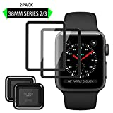 Elinkee Apple iWatch Screen Protector 38mm, [2 Pack] [Anti-Scratch] [High Definition] Premium Tempered Glass Screen Protector for Apple Watch 38mm Series 3/2