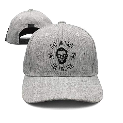 Lincoln Memorial Day Day Drinkin' Like ABE Lincoln Unisex Hat Adjustable Fit mesh - Lincoln Mesh Cap Abraham