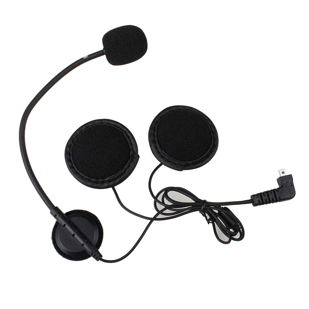 BT-S2/S3 Motorcycles Bluetooth Intercom Headset Communication System Accessories Kit (Hard Microphone)