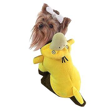 Zebuakuade Ropa para Perros Pet Elf Travestido Anime Cosplay Ropa para Perros Ropa para Mascotas Abrigos para Mascotas para Perros pequeños (Color : Yellow, ...