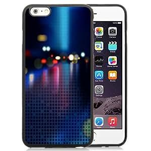 NEW Unique Custom Designed iPhone 6 Plus 5.5 Inch Phone Case With Neon Bokeh Halftone Pattern_Black Phone Case