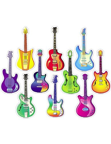 Teacher Created Resources Guitar Accents (5186) (Guitar Cutouts)