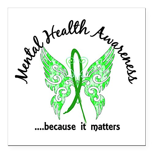 CafePress - Mental Health Butterfly Square Car Magnet 3