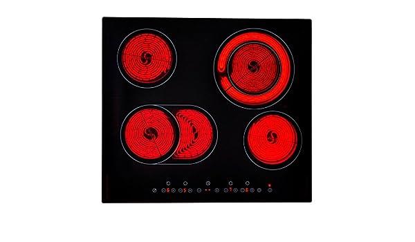 festnight mesa de vitrocerámica (4 fuegos, 6600 W: Amazon.es ...