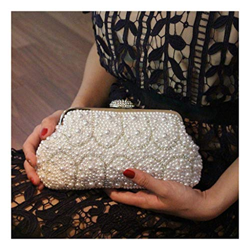The Bag Packet Bride'S The And The Sloping Dinner Dress Hand UU The Pearl Wedding Bag The white JUZHIJIA Across fqvPC