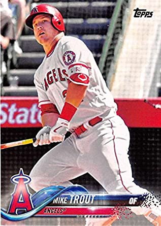 Amazoncom 2018 Topps 300 Mike Trout Los Angeles Angels