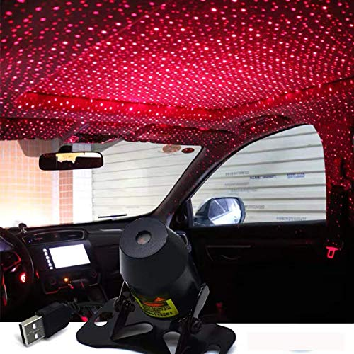 Car USB Atmosphere Ambient Star Light car interior lights LED decorative armrest box car roof full star projection laser car interior atmosphere lights
