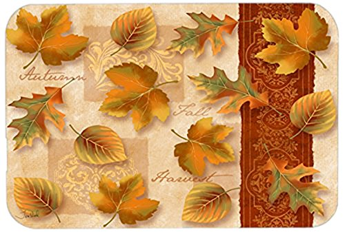 Caroline's Treasures PTW2001LCB Fall Autumn Leaves Glass Cutting Board Large, 12H x 16W, multicolor