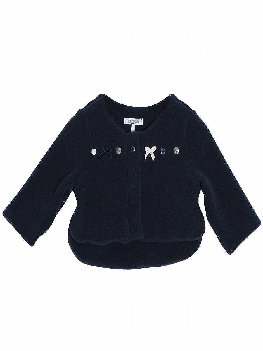 IKKS - Cardigan polaire bleu navy bébé fille Ikks 5651_T-2