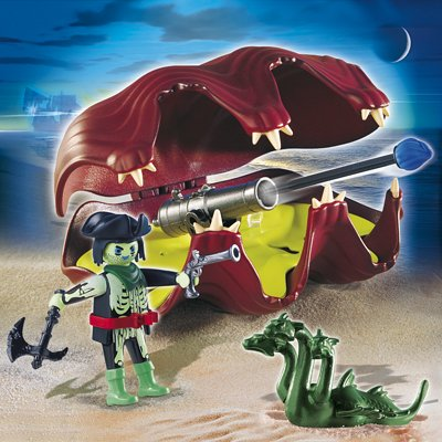Action- & Spielfiguren Folienverpackung PLAYMOBIL 6591 Kapitän der Geisterpiraten